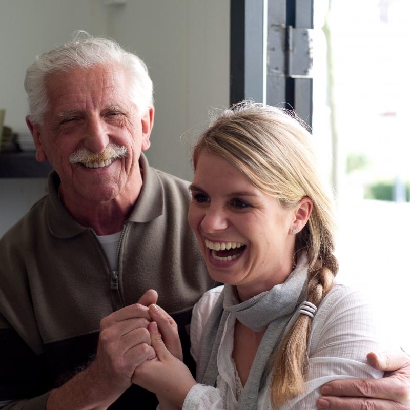 Anneke en oudere heer