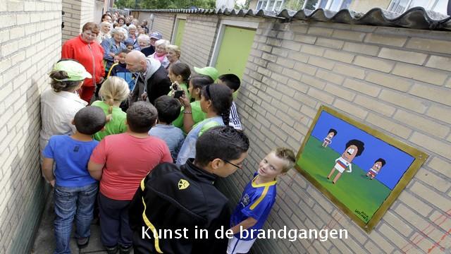 65 woningen Nederlandse buurt brandgangen